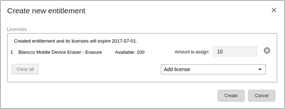 How to transfer licenses from Blancco Cloud account to HASP